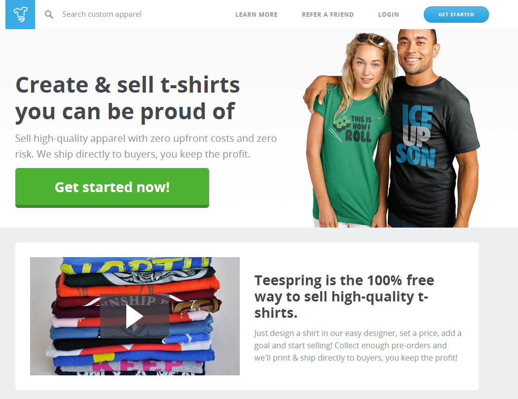 T Shirt Startup Online Business Online Training Ecommerce Retail